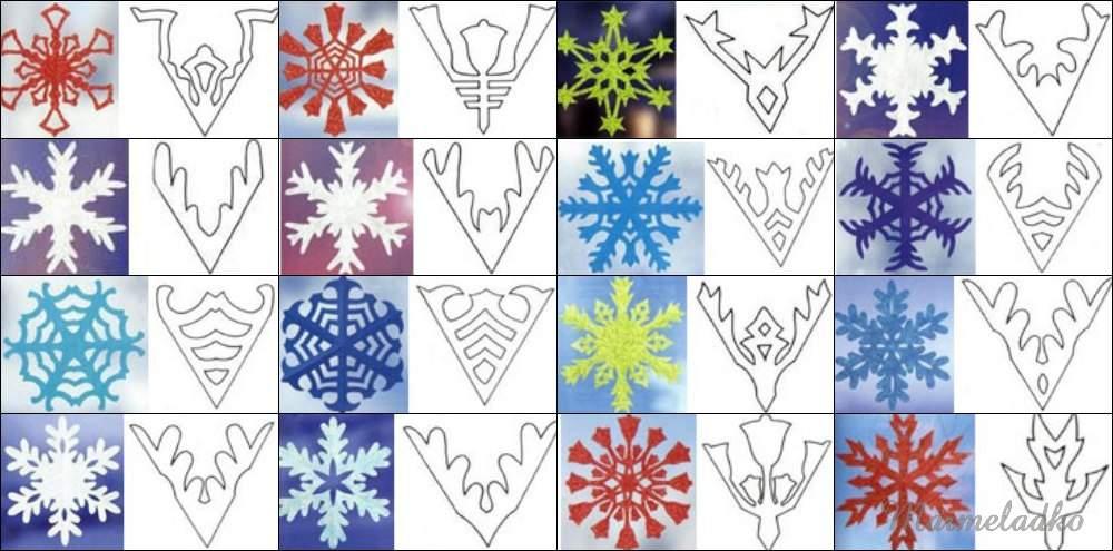 Схема красивой снежинки